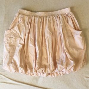 Pale pink bubble skirt